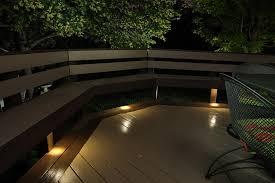 dekor led recessed down lights provide subtle lighting under deck