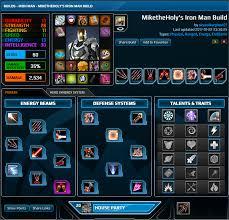 miketheholy u0027s iron man build missile build u2014 marvel heroes omega