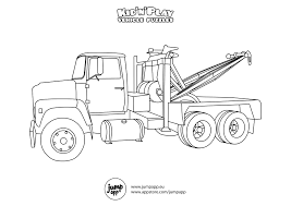 tow truck coloring pages eson me