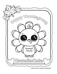 coloring pages u2013 draw cute art thanksgiving