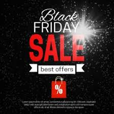 black friday banner black background sets of black friday banner vectors stock in