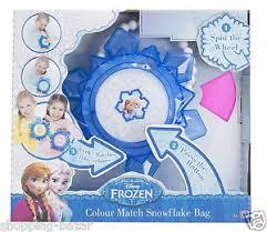 disney frozen princess snowflake colour changing bag girls light