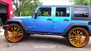 gold jeep wrangler acewhips net blue jeep wrangler on gold 30 u0027s asantis youtube