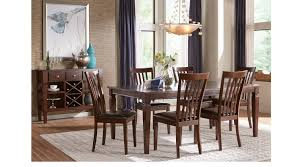 Rooms To Go Dining Room Sets Riverdale Cherry 5 Pc Rectangle Dining Room Slat Back Chairs