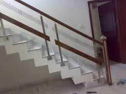 stainless steel stairs glass railing aay emm creations