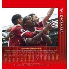 2018 easel desk calendar liverpool f c official desk easel 2018 calendar danilo