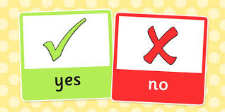 yes or no answer cards twinkl school flash card