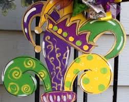 mardis gras decorations mardi gras door hanger etsy