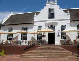 colonial style white house in colonial style on wine farm stellenbosch south