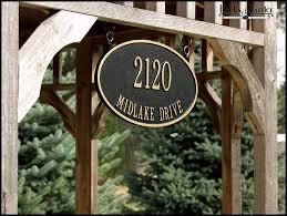 metal address plaques home appliances decoration