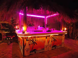 outdoor tiki bar trimmed in neon yelp