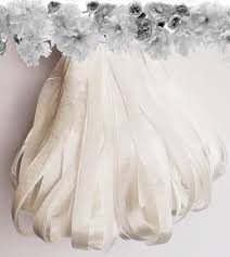 white silk ribbon 7mm white silk ribbon