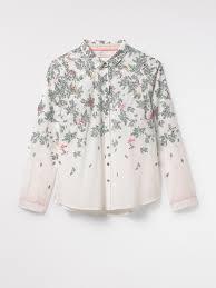 bird blouse molly bird shirt white print