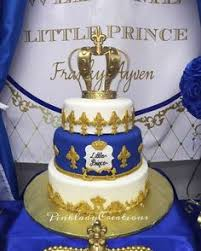 prince baby shower cakes prince themed baby shower cake in royal blue and gold with crown
