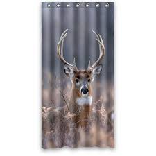 Deer Shower Curtains Buy Shower Curtain Wildlife Collage Of Eagle Deer Wolf And Bear