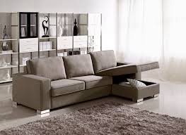 Small Couch For Bedroom by Apartment Size Grey Fabric Storage Sectional With Easy Pull Out