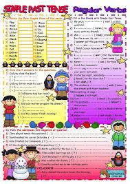 past simple regular verbs u2026 pinteres u2026