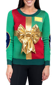 Womens Christmas Present Sweater  Tipsy Elves