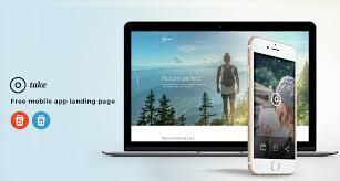take free mobile app landing page html template free html5