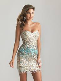 sparkly beaded sequin strapless sweetheart sheath short cocktail