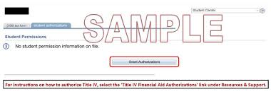 title iv financial aid authorizations all iu campuses one iu