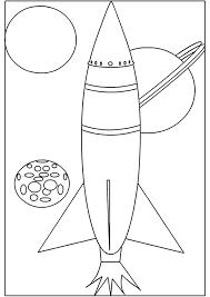 Dessin dune fusée et de diverses planètes à colorier  Coloriages