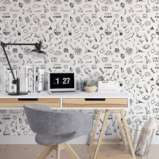 fun science color me removable wallpaper cute self adhesive