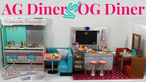 18 Inch Doll Kitchen Furniture by American Girl Doll Diner Vs Our Generation Doll Diner Youtube