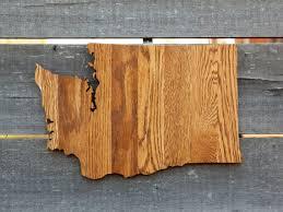 washington state shape wood cutout sign wall by stateyourlovellc