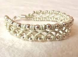 macrame bracelet with beads images Diy jewelry ideas leather macrame bracelet with sterling silver jpg