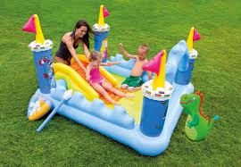 Intex Inflatable Swimming Pool Intex Inflatable Fantasy Castle Water Play Center Kids Pool