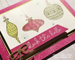 embossed ornament card with seasons of whimsy s cards