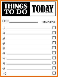 sample to do list sample to do list templates sample to do list