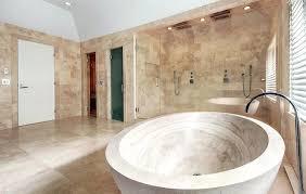 Travertine Bathroom Designs Travertine Bathroom Ideas Beautiful Bathroom With Dual Rainfall