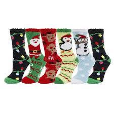 fuzzy christmas socks womens soft fuzzy christmas socks 6 pack size 9 11