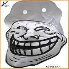 Face Mask Meme - halloween 3d embossed face mask meme troll mask buy meme troll