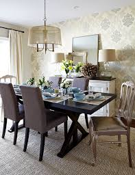 buffet lamps dining room transitional with upholstered dining