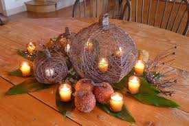 best thanksgiving centerpieces decorations lighted pumpkin inspired woven tree root