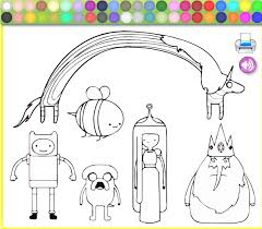 adventure time coloring pages online painting games free kids games online kidonlinegame com page 14