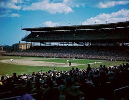 chicago cubs cubs twitter chicago cubs pinterest the view inside wrigley field during a 1959 cubs game the stadium was built in 1914 and celebrates its centennial this year