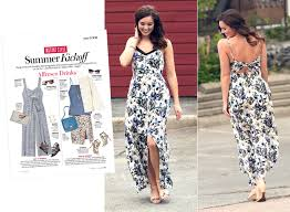 how to style a printed maxi dress for date night instyle com