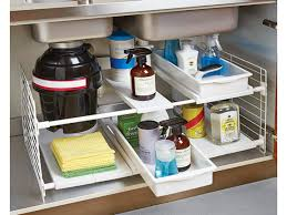 Under Sink Shelves by Under The Sink Storage Solutions Under Sink Organizer Storage