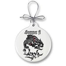 amazon com marine christmas ornaments u2013 usmc marine corps sempri