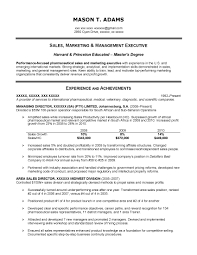 Sample Resumes For Sales Executives Resume Templates For Medical Device Sales