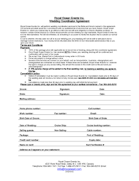 day of wedding coordinator day of wedding coordinator contract template templates resume