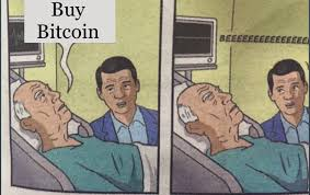 Bitcoin Meme - old man on his death bed buy bitcoin markets minyanville s