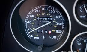ferrari speedometer 1996 ferrari f355 spider weissach