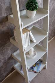 gloucester wooden tall narrow ladder shelf 6 shelving unit