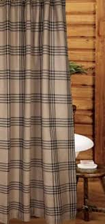Check Shower Curtain Chesterfield Check Black Shower Curtain Country Bathroom By