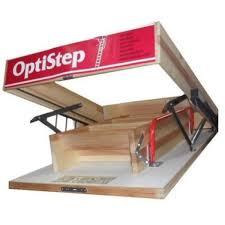 optistep wooden loft ladder u0026 hatch 70cm x 120cm h 280cm free